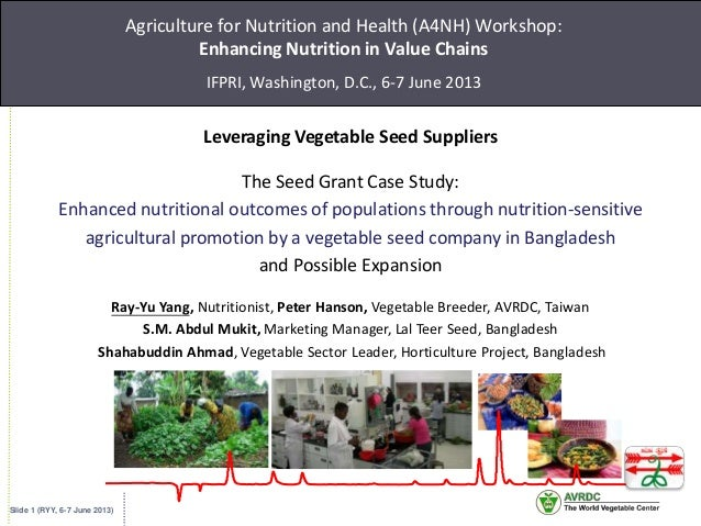 Slide 1 (RYY, 6-7 June 2013)Agriculture for Nutrition and Health (A4NH) Workshop:Enhancing Nutrition in Value ChainsIFPRI,...