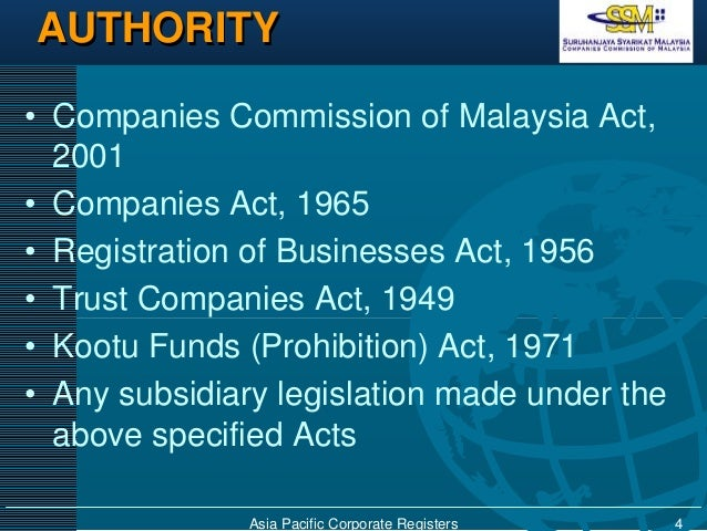 The Companies Commission Of Malaysia