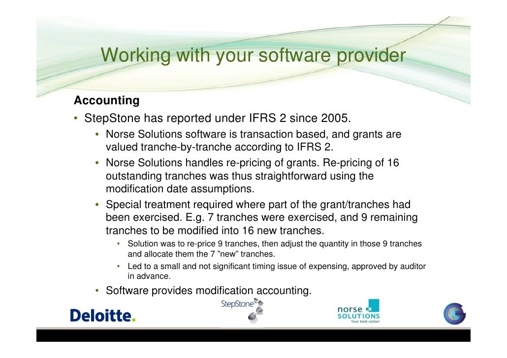 Employee stock options accounting treatment ifrs
