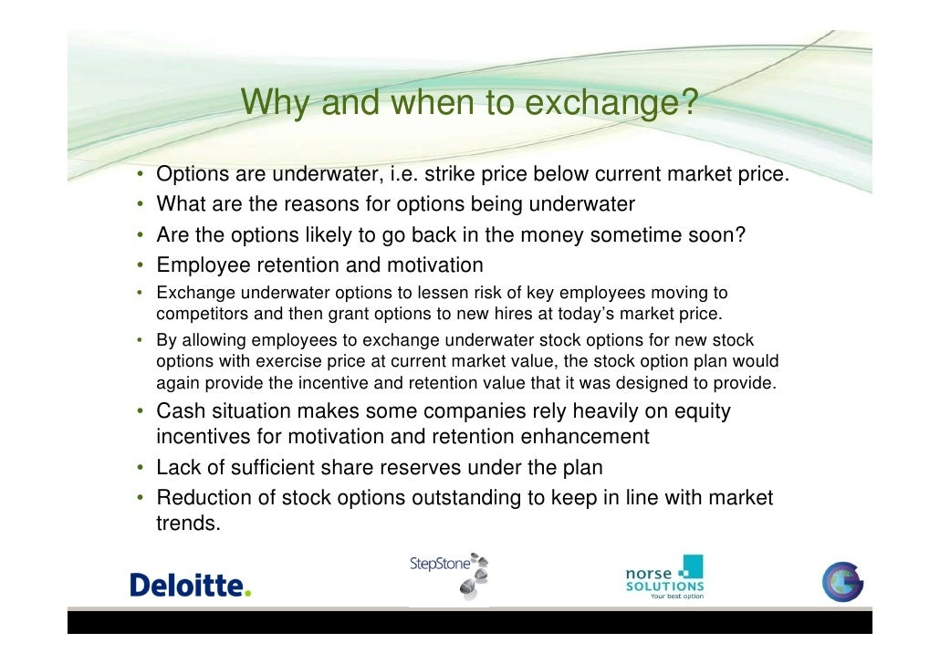 Accounting for in the money stock options