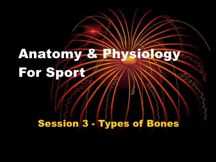 Anatomy & Physiology For Sport Session 3 - Types of Bones