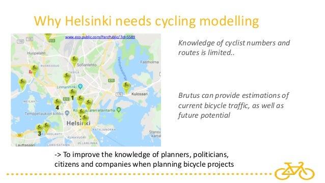 Cycling Modeling In Helsinki Utrecht