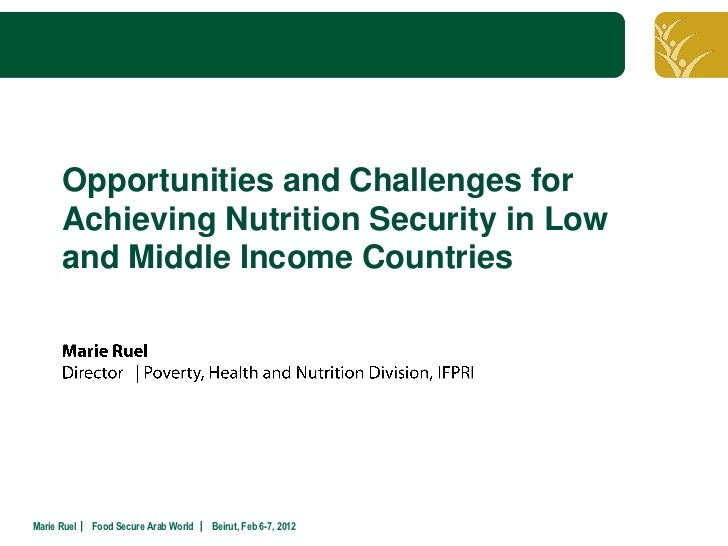 Click to edit Master title style      Opportunities and Challenges for      Achieving Nutrition Security in Low      and M...