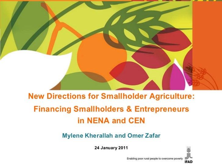 New Directions for Smallholder Agriculture: Financing Smallholders & Entrepreneurs in NENA and CEN Mylene Kherallah and Om...