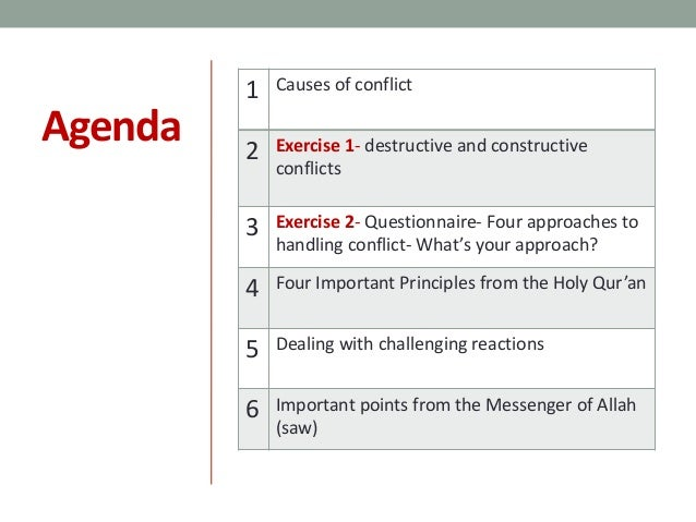 Ways to solve conflict