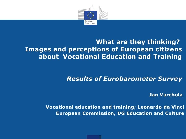 What are they thinking? Images and perceptions of European citizens about Vocational Education and Training