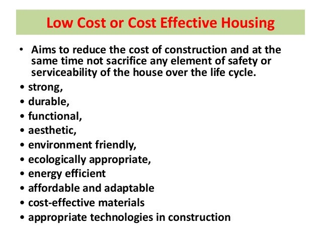 Session 3 Low Cost Housing