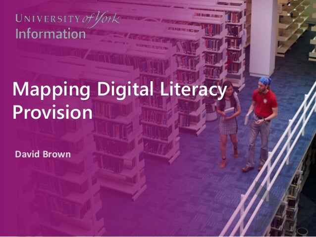 Mapping Digital Literacy Provision David Brown
