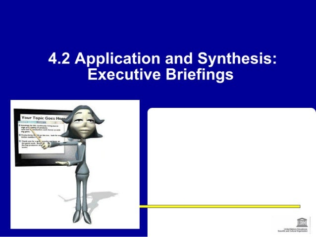 Session 4.2 application and synthesis executive briefings_chengdu