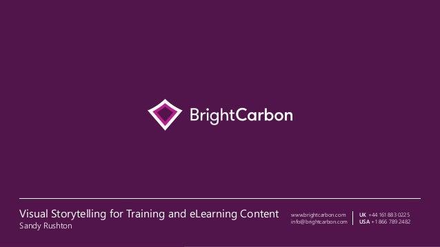 www.brightcarbon.com info@brightcarbon.com UK +44 161 883 0225 USA +1 866 789 2482 Visual Storytelling for Training and eL...