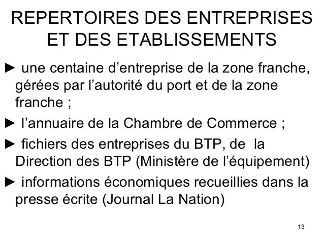 Session4 djib djibouti comptes dbase 1 for Chambre de commerce djibouti