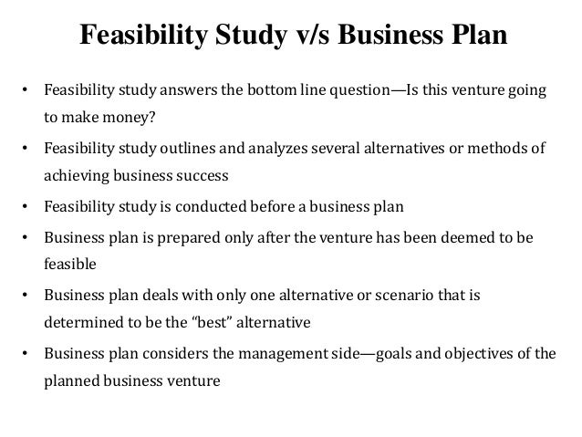 components of feasibility study ppt