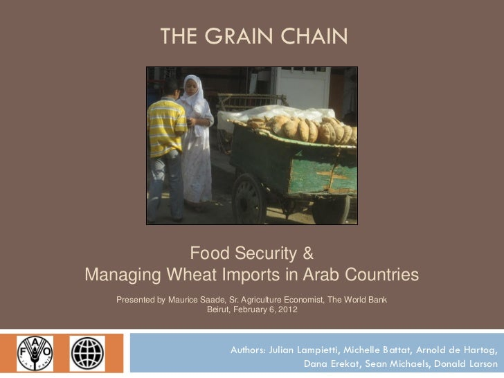 THE GRAIN CHAIN           Food Security &Managing Wheat Imports in Arab Countries   Presented by Maurice Saade, Sr. Agricu...