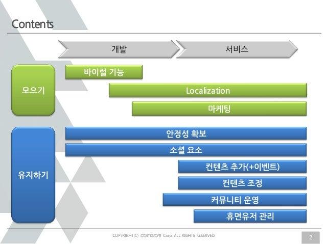 Session4 com2 us_sanghunlee[TapjoyX5Rocks App Discovery Seminar] Session 4 - 컴투스 이상훈 팀장 Slide 2
