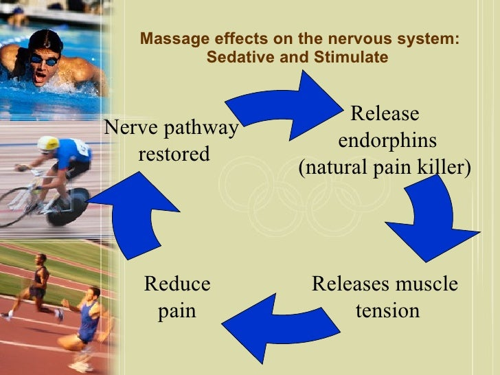 the general effects of massage on the autonomic nervous system Effects of massage on the circulatory system the circulatory system circulates blood around the body through the heart, arteries and veins this physiological system delivers oxygen and nutrients to organs and cells, and carries their waste products away.