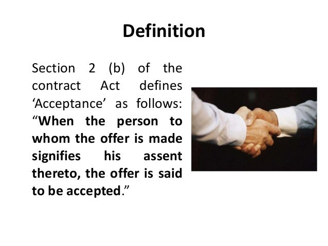 acceptance in law