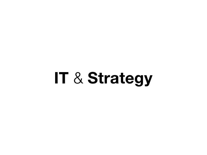 IT & Strategy