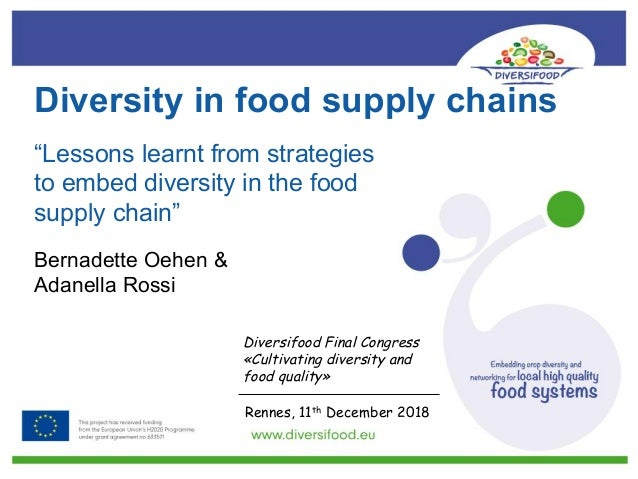 Diversity in food supply chains Bernadette Oehen & Adanella Rossi Diversifood Final Congress «Cultivating diversity and fo...