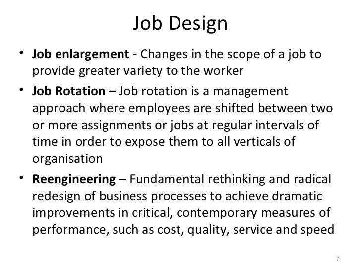 Job rotation job enlargement and job enrichment business essay
