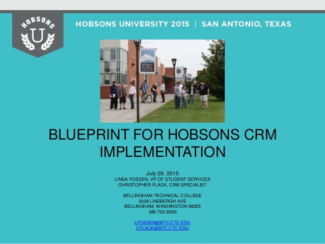Blueprint for hobsons crm implementation 2 638gcb1438875163 session agenda 3 malvernweather Images