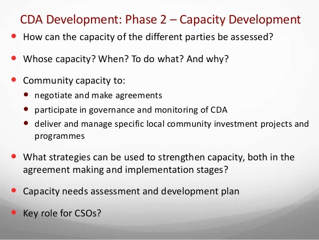 Introduction To Community Development Agreements Cdas
