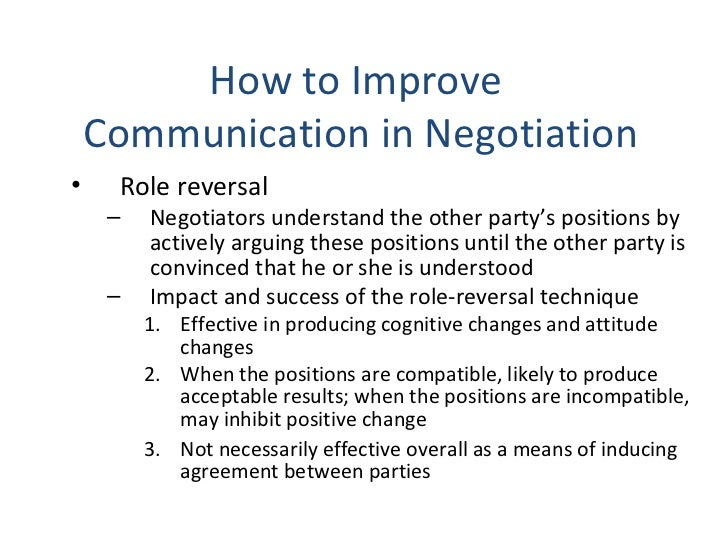 effective communication in negotiation Contract negotiation skills for  non-verbal communication is also important in  this article has explained at length how negotiation can be effective,.
