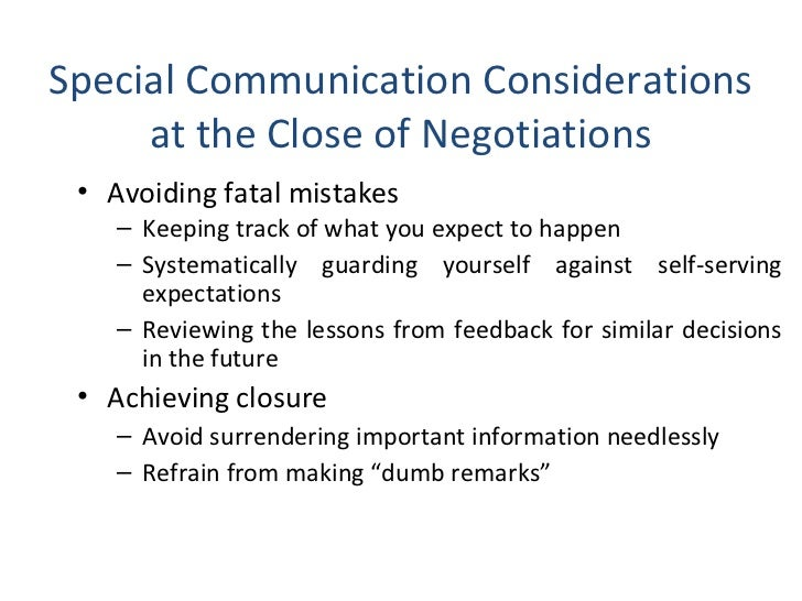 effective communication in negotiation Courtroom communication techniques (pass/fail grade) this course explores nonverbal communication and the impact that communication strategies can have in the courtroom.