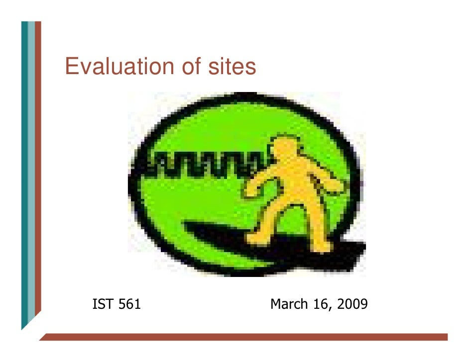 Evaluation of sites