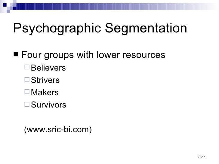 <ul><li>Four groups with lower resources </li></ul><ul><ul><li>Believers </li></ul></ul><ul><ul><li>Strivers </li></ul></u...