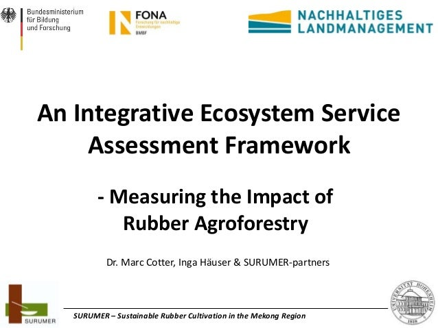 An Integrative Ecosystem Service Assessment Framework - Measuring the Impact of Rubber Agroforestry Dr. Marc Cotter, Inga ...