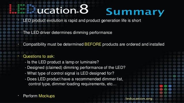 Session 6 - LEDucation 8 - Controls Presentation - Flicker