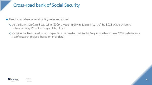 ◆ Used to analyse several policy relevant issues ◇ At the Bank : Du Caju, Fuss, Wintr (2009) : wage rigidity in Belgium (p...
