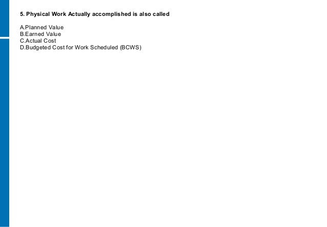 Earned Value Case Study | ezzat mansour - Academia.edu