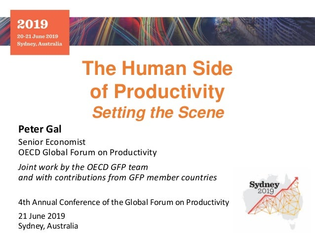 The Human Side of Productivity Setting the Scene Peter Gal Senior Economist OECD Global Forum on Productivity Joint work b...
