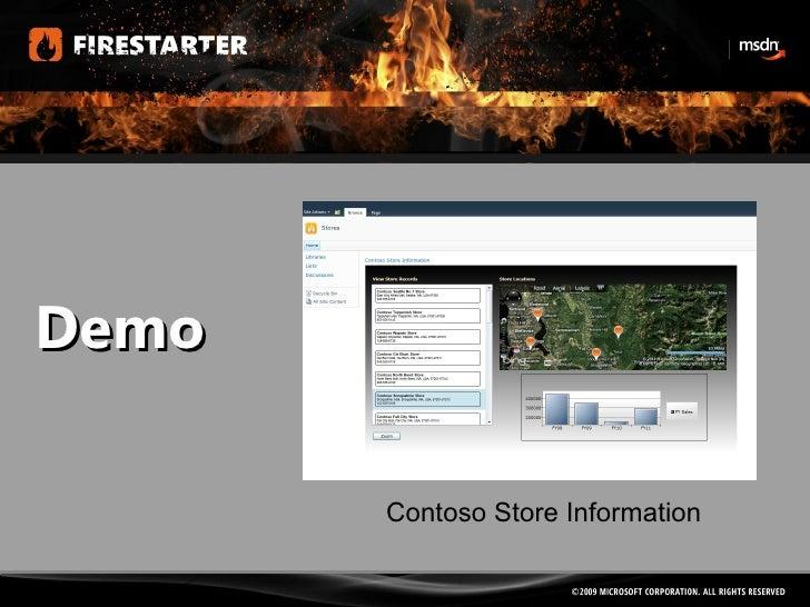 Demo Contoso Store Information