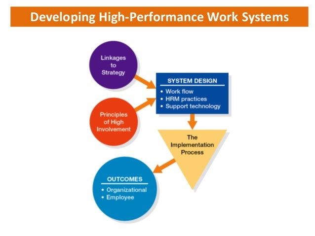 analysis of high performance work systems Developing and sustaining high-performance work teams  role for hr is to design both individual and team rewards to support performance excellence based on a solid performance management system.
