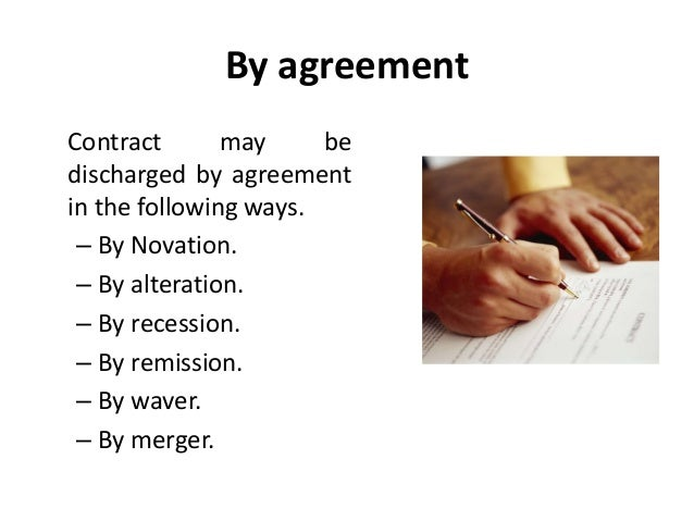 Discharge Of Contract Legal Environment Of Business Business Law