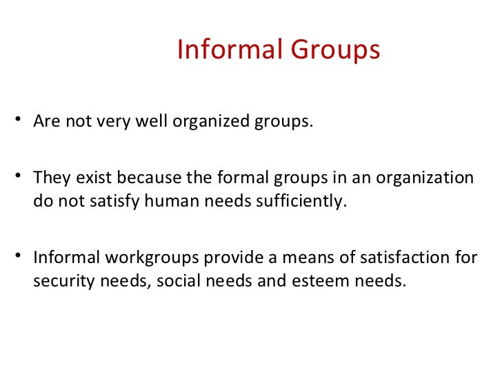 session group dynamics  47 informal groups