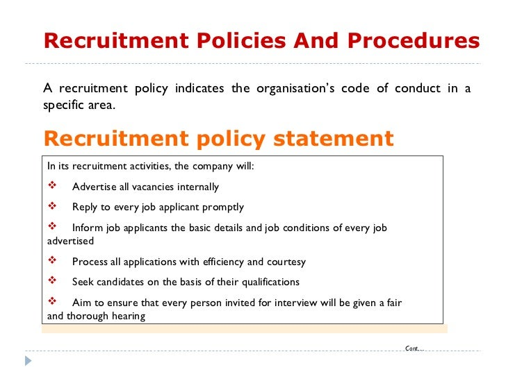recruitment policy Recruitment policies right of refusal loyola university chicago reserves the right to terminate or refuse the participation of any organization in our recruiting activities, ramblerlink.