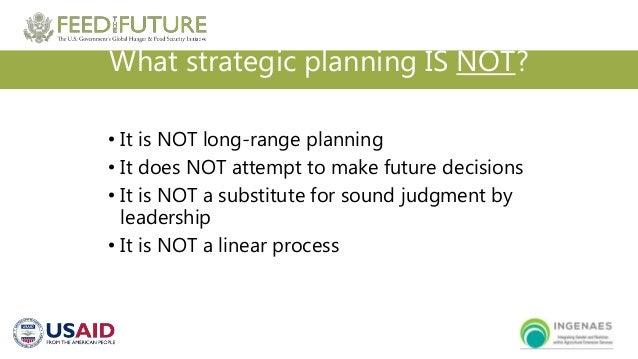 Strategic planning dynamic vs linear process
