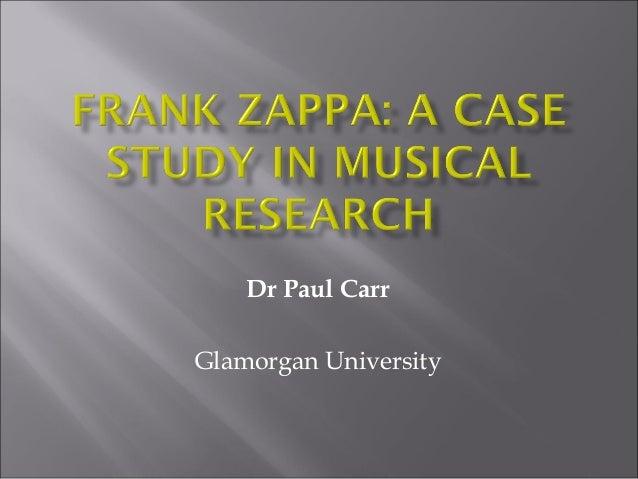 Dr Paul CarrGlamorgan University