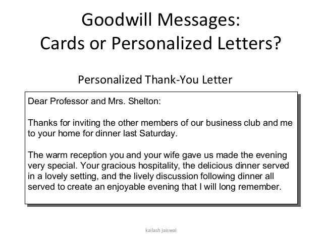 Session 8 – Thank You Letter to Professor