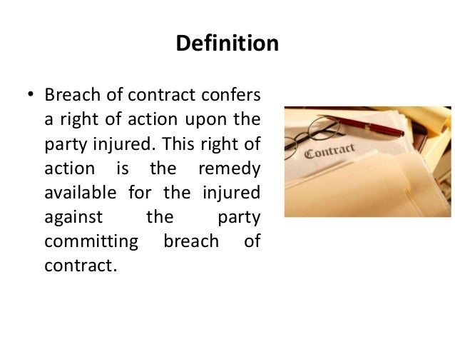 Breach Of Contract  Legal Environment Of Business  Business Law  M