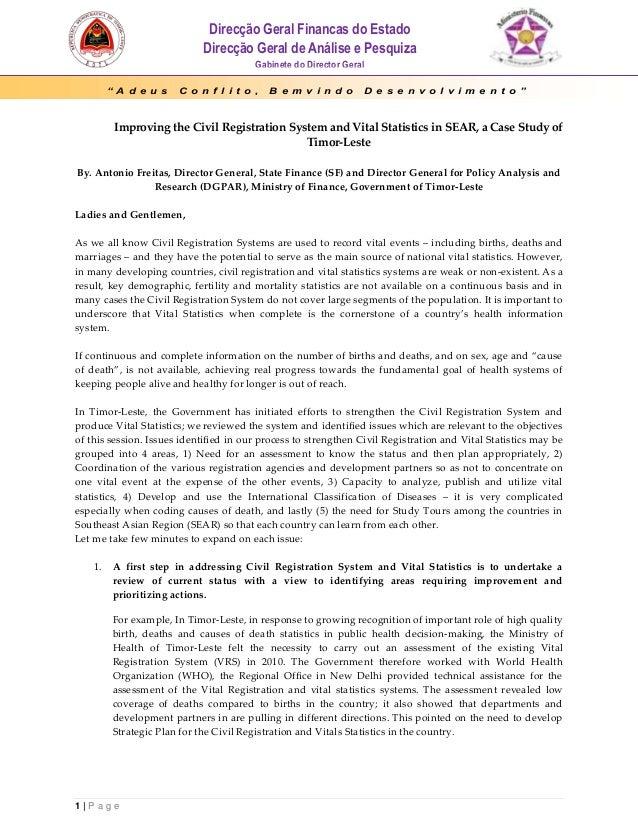 Direcção Geral Financas do Estado                             Direcção Geral de Análise e Pesquiza                        ...