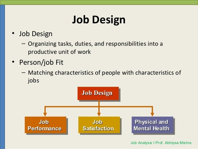 Job Analysis And Job Description