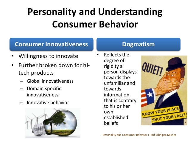 Customer behaviour based on personality