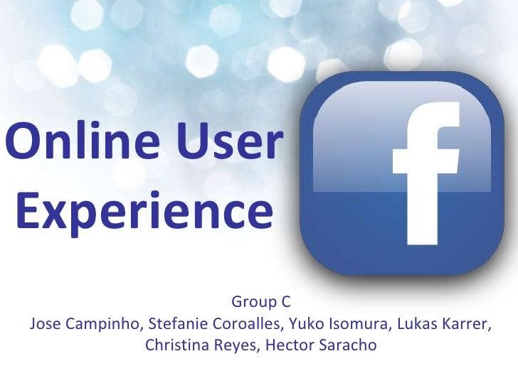 Online User Experience <br />Group C <br />Jose Campinho, Stefanie Coroalles, Yuko Isomura, Lukas Karrer, Christina Reyes,...