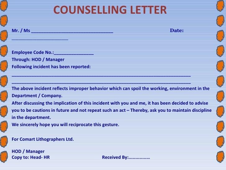 Warning letter for employee for misbehaviour vatozozdevelopment session 9 spiritdancerdesigns Gallery