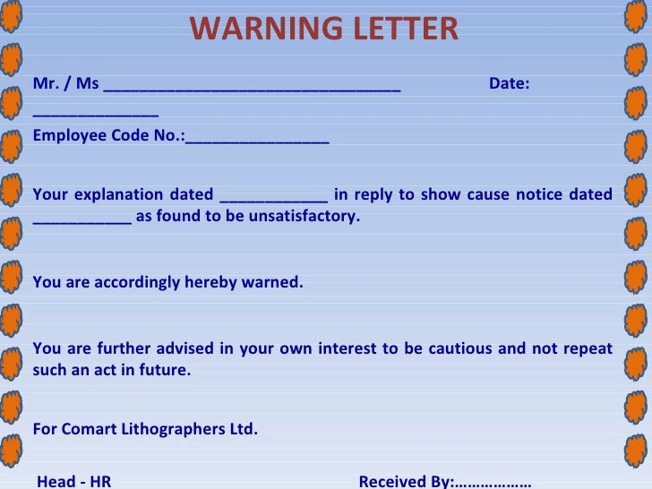 Writing an employee up for lying