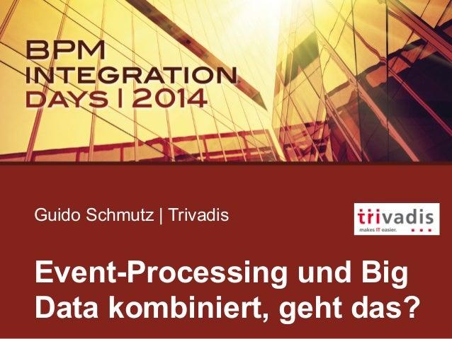 Guido Schmutz | Trivadis Event-Processing und Big Data kombiniert, geht das?